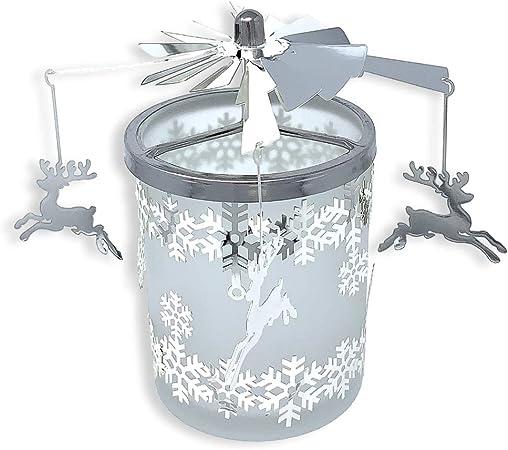 Banberry Designs Reno de Cristal Esmerilado Spinning Soporte para ...