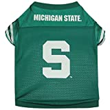 Sporty K9 Collegiate Michigan State Spartans Football Dog Jersey, XX-Small