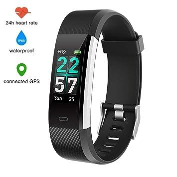EUMI Montre Connectée Smartwatch Podomètre Tracker dActivité Bracelet Sport, Etanche IP68 Montre GPS