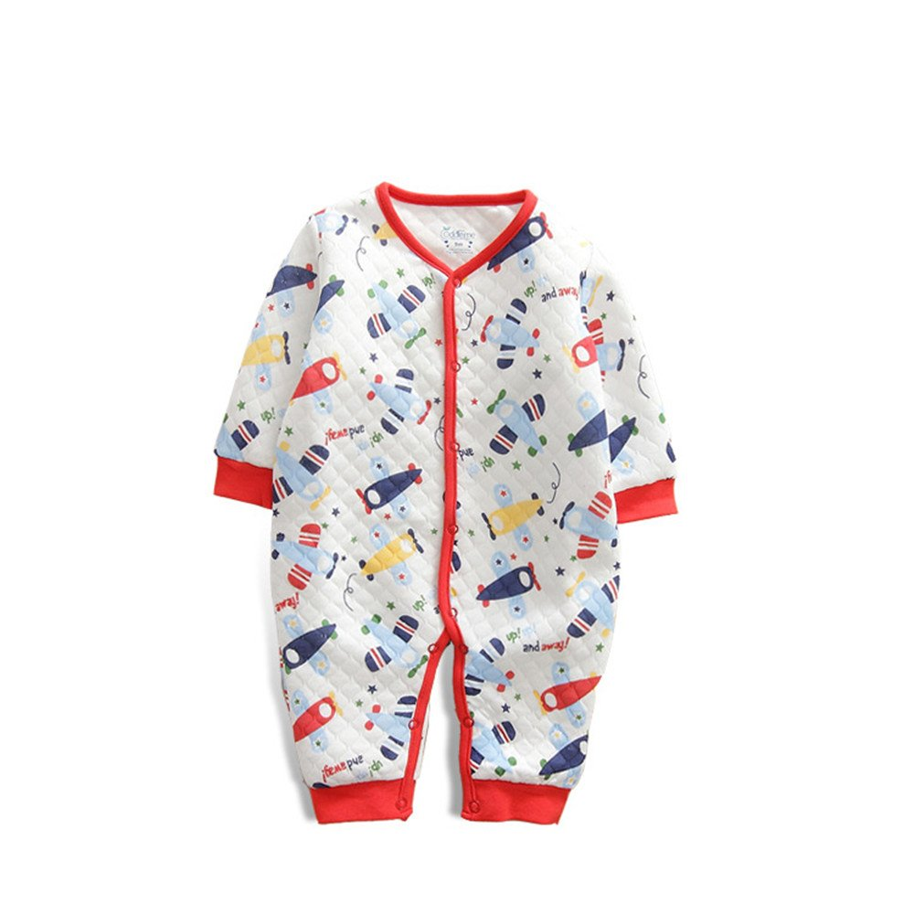 EsTong Unisex Infant Baby Toddler Warm Thick Romper Outfit Long Sleeves Cotton Pajamas