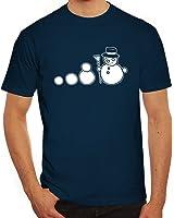 Lustiges Herren T-Shirt Evolution Schneemann
