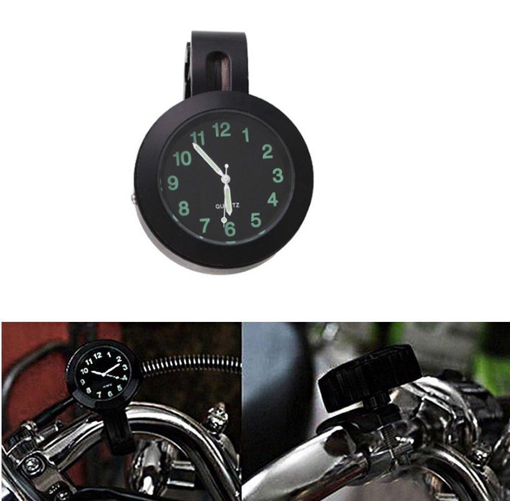 'ICT Ronix 7/8 '1universal motorraduhr Horloge montres cadran horloge pour moto guidon de vé lo vé lo Noir ICTRONIX