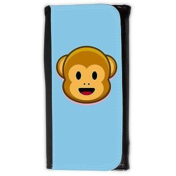 Cartera para hombre // Q05210609 Monos emoji 1 Bebe azul // Large Size Wallet: Amazon.es: Electrónica