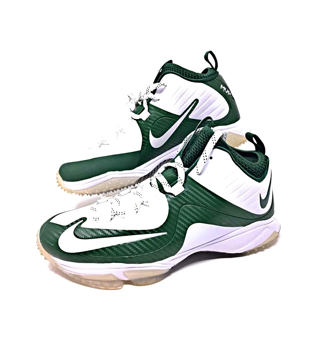 3b904e361400 Amazon.com  Nike Air Max MVP Elite 2 Nubby turf trainers baseball  739394-115 white Deep forest green Size 13  Clothing