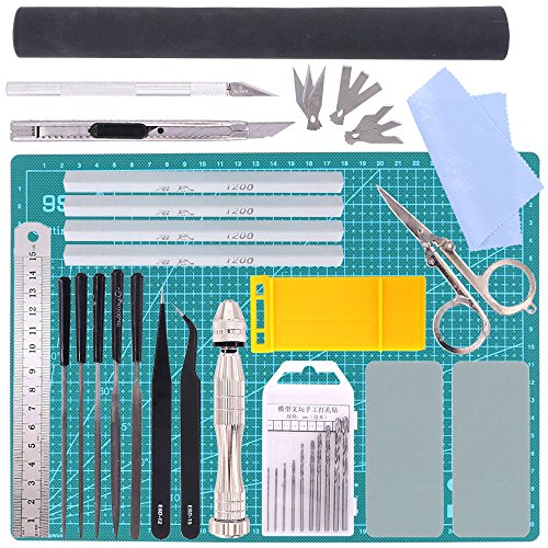 - Swpeet 27Pcs Professional Gundam Modeler Basic Tools, Gundam Model Tools Kit Perfect for Model Kit Building Beginner Hobby Model Assemble Building with Duty Plastic Container