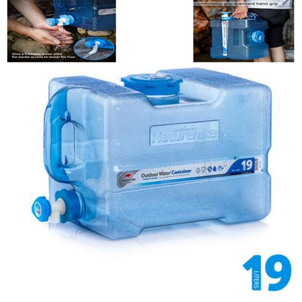 12 / 19L secchio d'acqua portatile contenitore d'acqua campeggio con rubinetto lavasciuga attrezzature secchio di viaggio secchio di viaggio d'emergenza domestico d'emergenza bere secchio per camper Gereton
