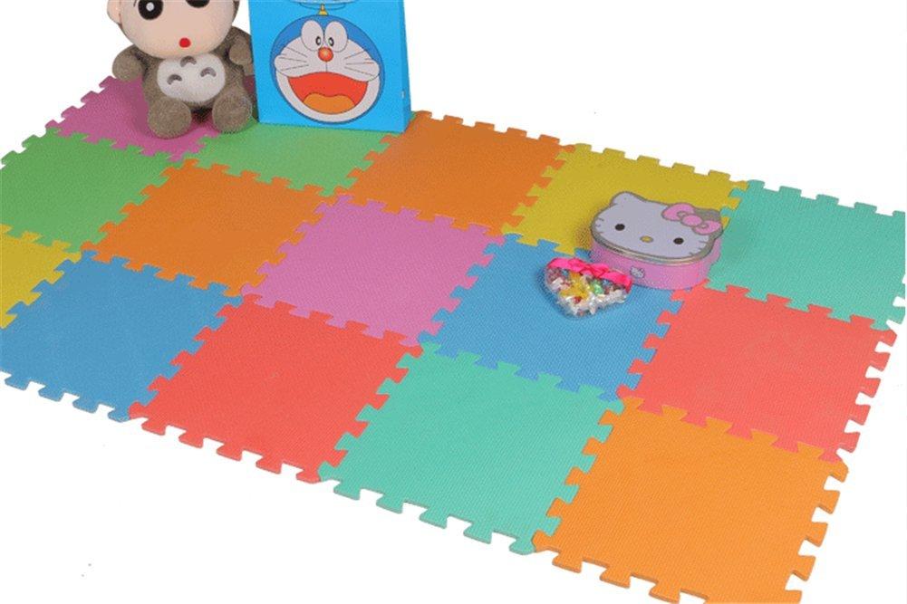 Wealsex Tapis dEveil Tapis de jeu En Mousse Color/é Anti 10 pi/èces 30 chute 30 0.8 CM pour chaque pi/èce