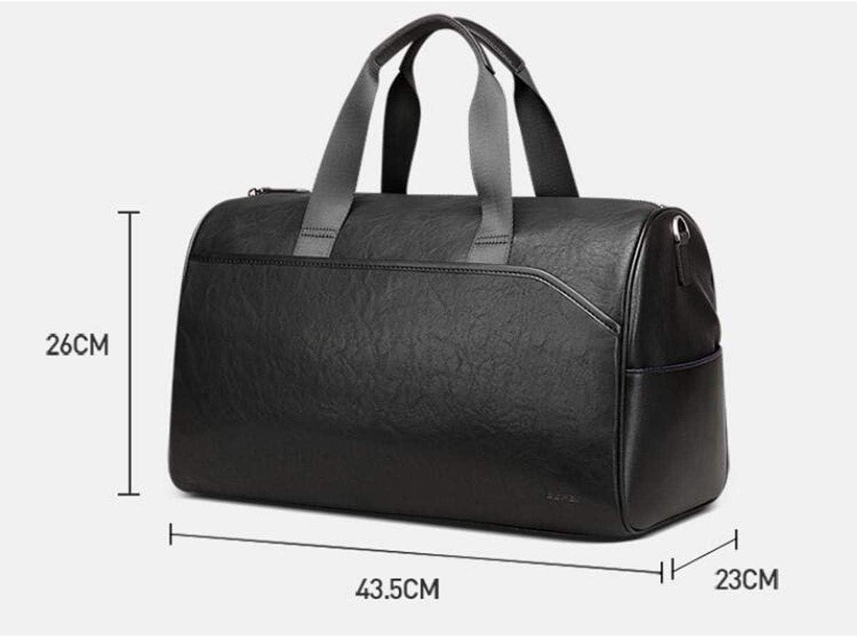 Short-Distance Large-Capacity PU Bag Female Mens Handbag Travel Shoulder Bag ZHICHUANG Fitness Bag Black Size: 43.52326cm Travel Duffel Bag for Men and Women