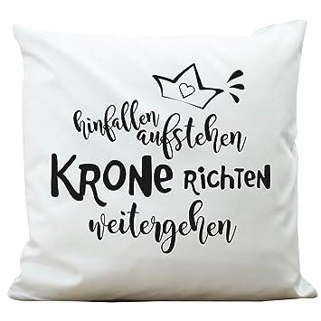 """Krone richten aufstehen Kissen /""""Hinfallen weitergehen/"""""""