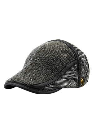 Zinmuwa Gorra Plana para Hombre Hiedra Gatsby Knit Newsboy Sombrero De Caza Boina Sombrero Ajustable Clásico Grey One Size: Amazon.es: Ropa y accesorios