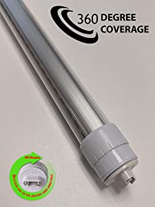Pack of 10 Lights - R17D/HO/CW 4 Feet 28 Watt 6500K F48T12/T8 Fluorescent Replacement Double Sided 360 Degree Coverage Tube Light for Outdoor Signs, Cooler, Freezer etc