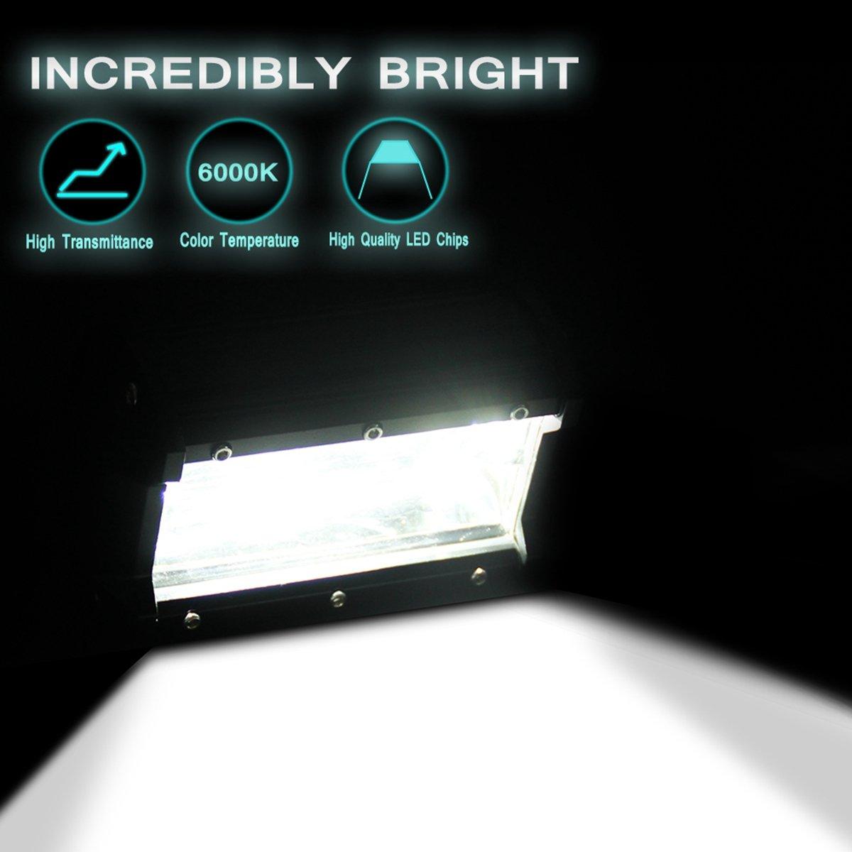 Amazon.com: 2 Pcs 5 INCH 72W Two Rows LED Light Bar Modified Off Road Lights  , Flood Driving Fog Light Off Road Lights Boat Lights Driving Lights Led  Work ...