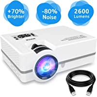WONNIE 2600-Lumens 1080p Multimedia Home Theater Mini Projector