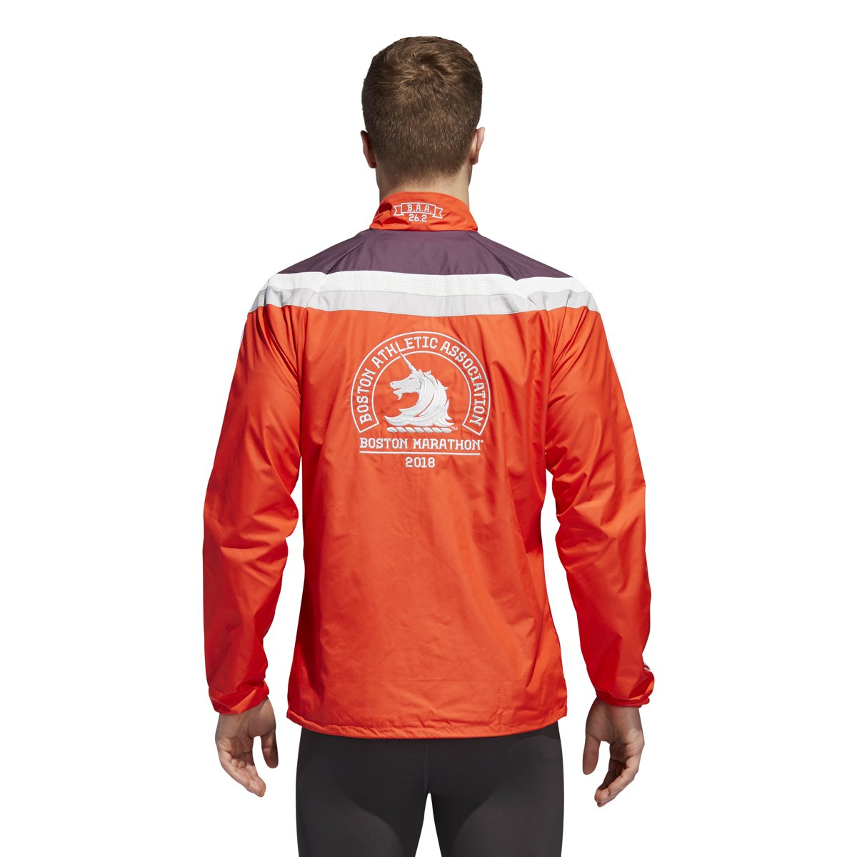 b369a6da8213b Amazon.com  adidas Men s 2018 Boston Marathon Celebration Jacket  Clothing