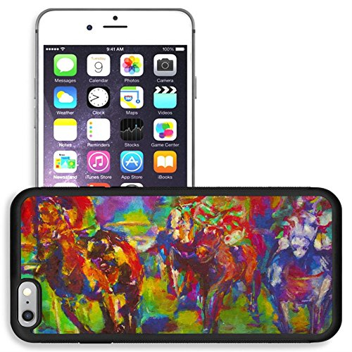 Concept Racing - Liili Apple iPhone 6 plus iPhone 6S plus Aluminum Backplate Bumper Snap iphone6plus/6splus Case original oil painting on canvas for giclee background or concept horse racing Photo 6656183