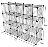 Only Garment Racks Metal Wire Storage Cubes, Modular Shelving Grids, Mini Grid Clothes Organizer, 3-Foot by 4-Foot, Ideal for Kitchens, Retail Shops, Play Rooms, Florists