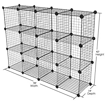 only garment racks metal wire storage cubes modular shelving grids mini grid. Black Bedroom Furniture Sets. Home Design Ideas
