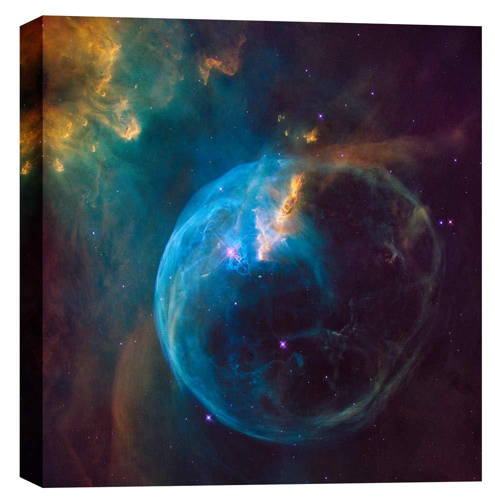 Epic Graffiti Bubble Nebula Hubble Space Telescope Giclee Canvas Wall Art, 18 x 18, Blue