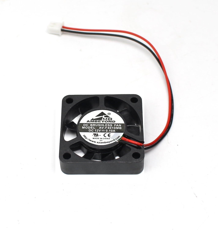 2-Packs 40 x 40 x 10mm 4010 12V 0.10A Brushless DC Cooling Fan 2pin AV-F4010MB UL CE