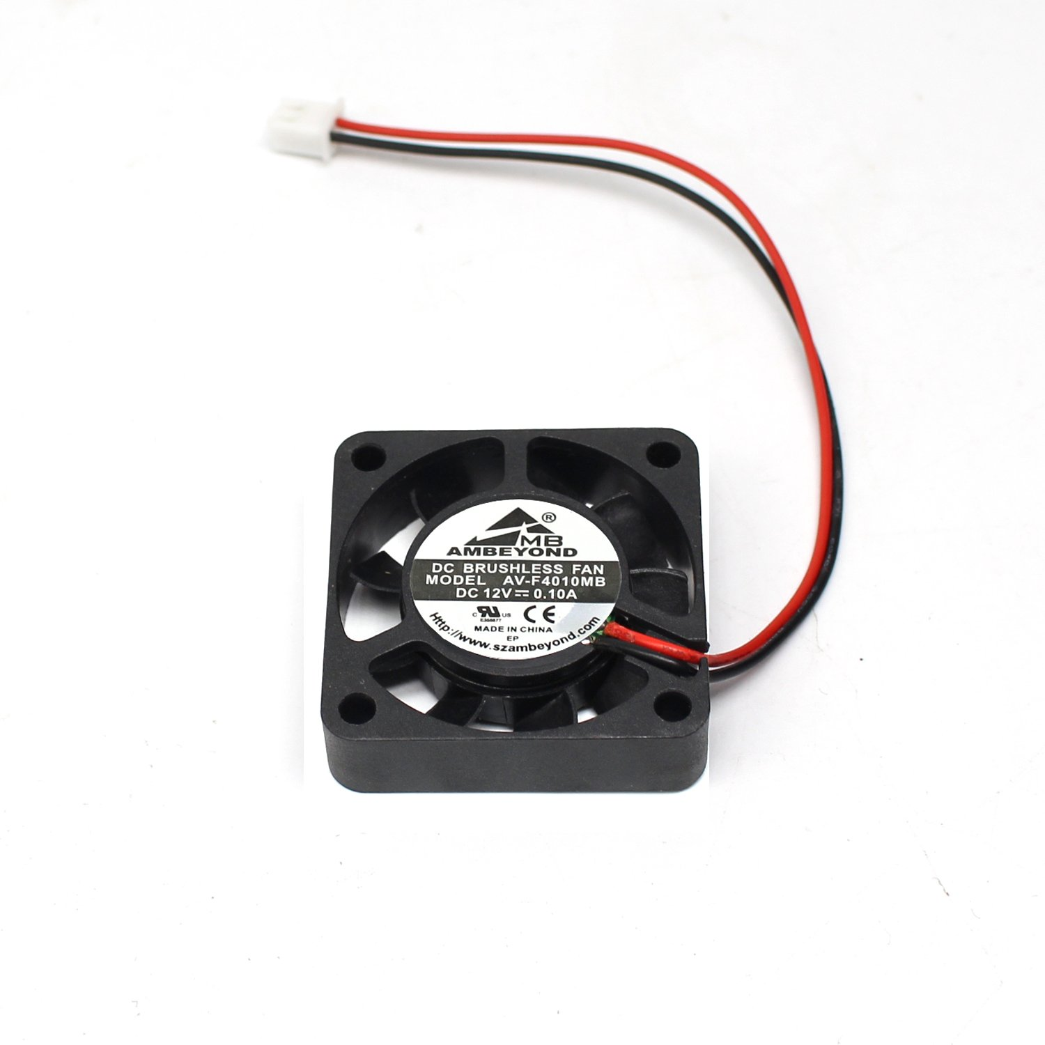 2-packs 40 x 40 x 10mm 4010 12V 0.10A Brushless DC Cooling Fan 2pin AV-F4010MB UL CE by AMBEYOND FAN (Image #6)
