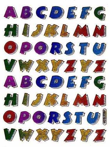 Letras De Coloures Abc Etiqueta Digitos 12 Mm De Alto 135 Mm X 100