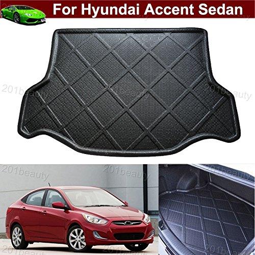 Car Boot Pad Carpet Cargo Mat Cargo Liner Trunk Liner Tray Floor Mat For Hyundai Accent Sedan 2012 2013 2014 2015 2016 2017 (Hyundai Accent Sedan)