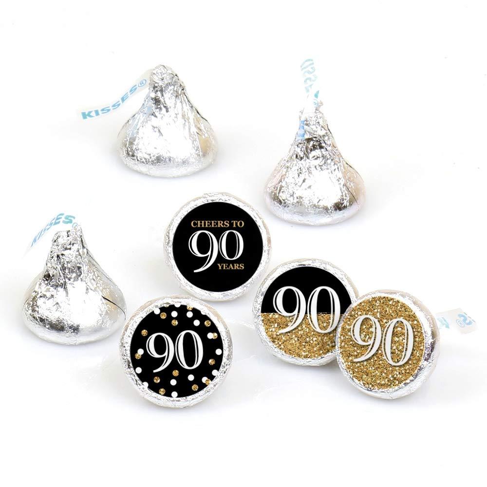 Amazon.com: Adultos 90th Cumpleaños – Oro – redondo de Candy ...