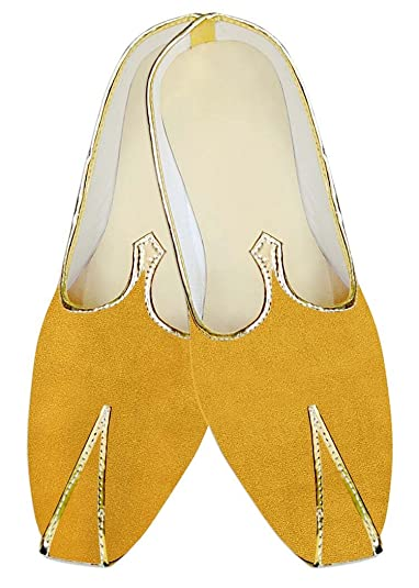 Mens Yellow Wedding Shoes Simple MJ015702