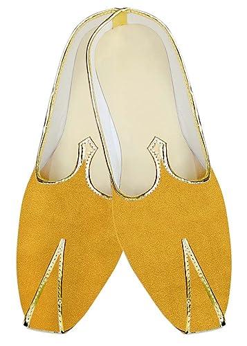 44c093032 INMONARCH Juti for Men Yellow Wedding Shoes Simple Wedding Shoe for Groom  MJ015702S7 7 (M