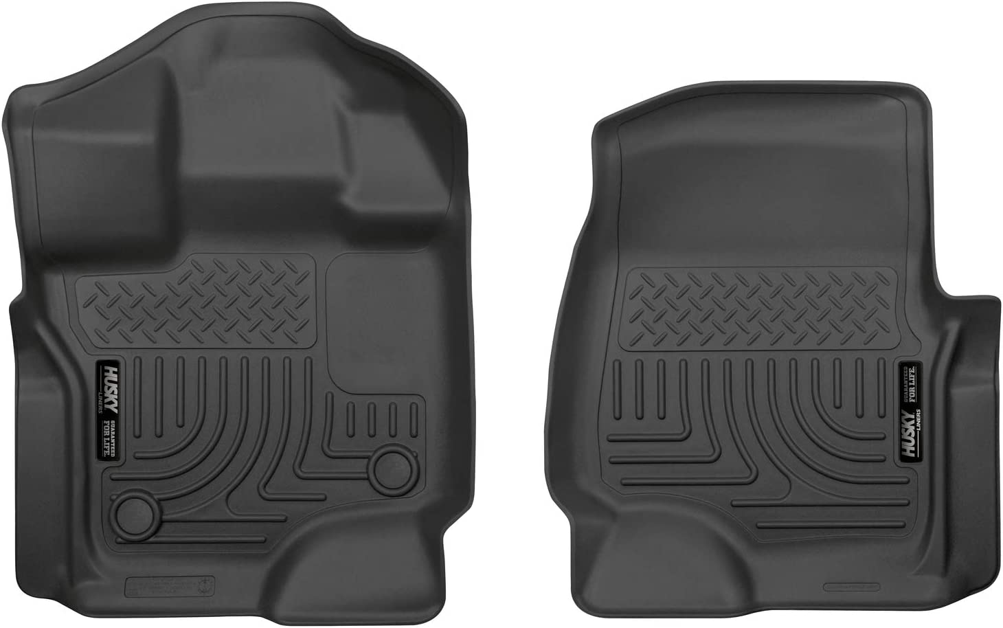 Husky Liners Black Weatherbeater Front Floor Liners Fits 2015-2019 Ford F-150 SuperCrew/SuperCab