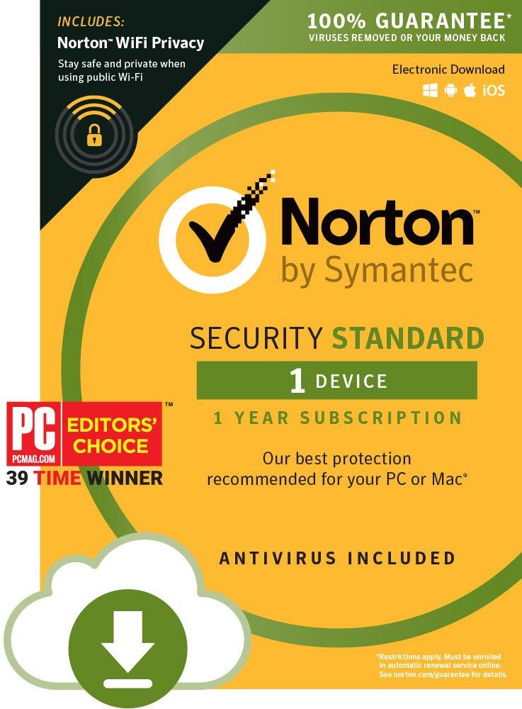 Norton Security Standard 1 Device + Norton WiFi Privacy - Secure VPN Bundle [Digital Download] by Symantec