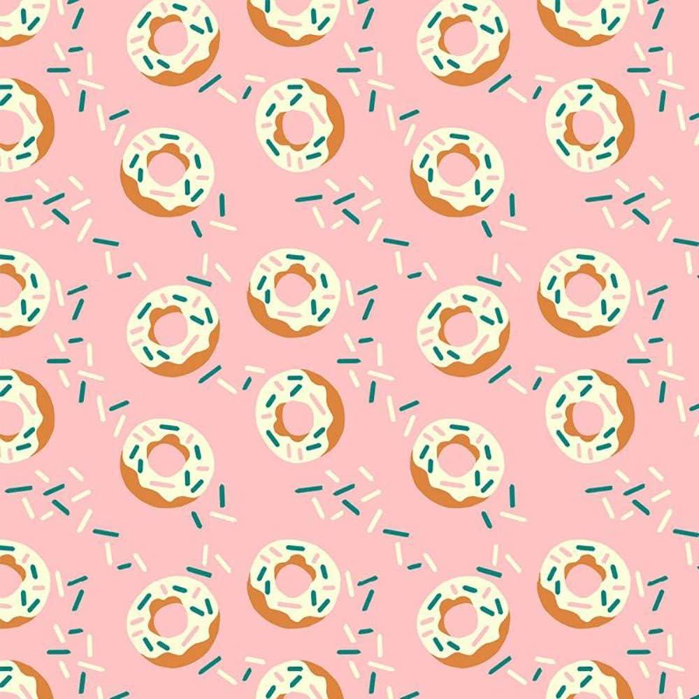 Food Trucks Donuts Pink - Paintbrush Studio 100% Cotton Fabric