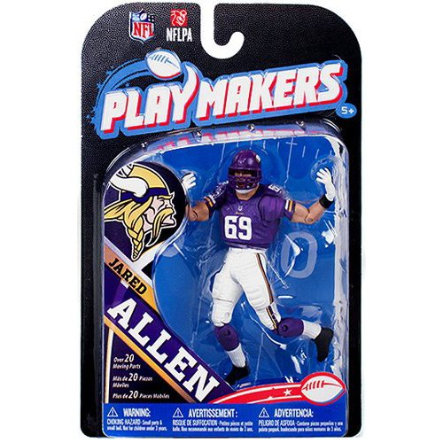 NFL Minnesota Vikings 2013 Le meneur de jeu de la série 4 Jared Allen action figure