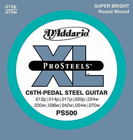 DAddario PS500 - Juego de cuerdas para guitarra pedal steel de ...