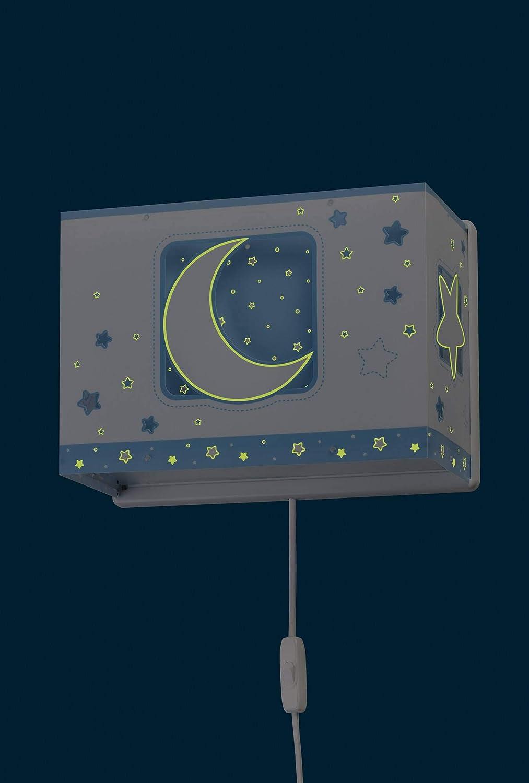Dalber Wandleuchte Moon Light Blau Kunststoff 60 W