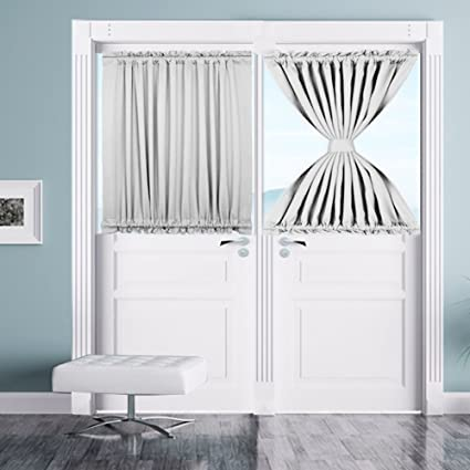 Amazon French Door Panel Curtains White Door Blackout Curtains