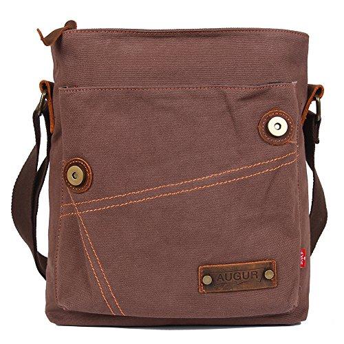 4 Egogo Multi Khaki Messenger Briefcase Business function E407 Shoulder Canvas Satchel Vintage Bag Man's 6ATxw6r7