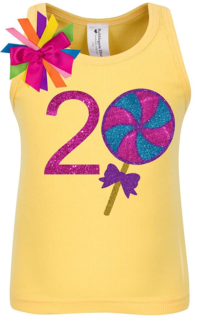 Bubblegum Divas Little Girls 2nd Birthday Giant Lollipop Candy Shirt