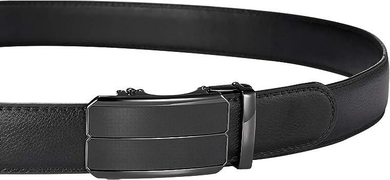 Mens Belt Utop Adjustable Belt With Wide 1.38Inch Dress Belt and Automatic Slides Ratchet Genuine Leather Belts for Men