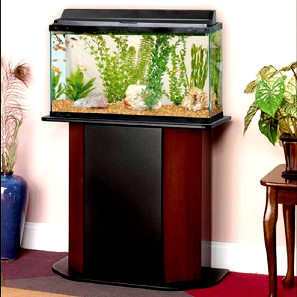 20 Gallon Wood Aquarium Stand Paneled for 20/29 Maximum Concealed Storage Located Behind Hinged Door - Skroutz Deals by Unknown