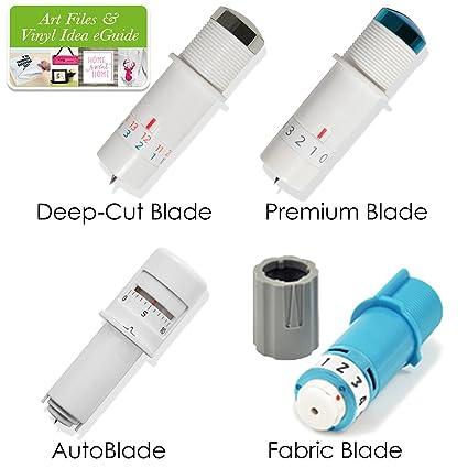 Silhouette Cameo 3 Four Blade Pack   Deep Cut Blade, Premium Blade, Fabric  Blade