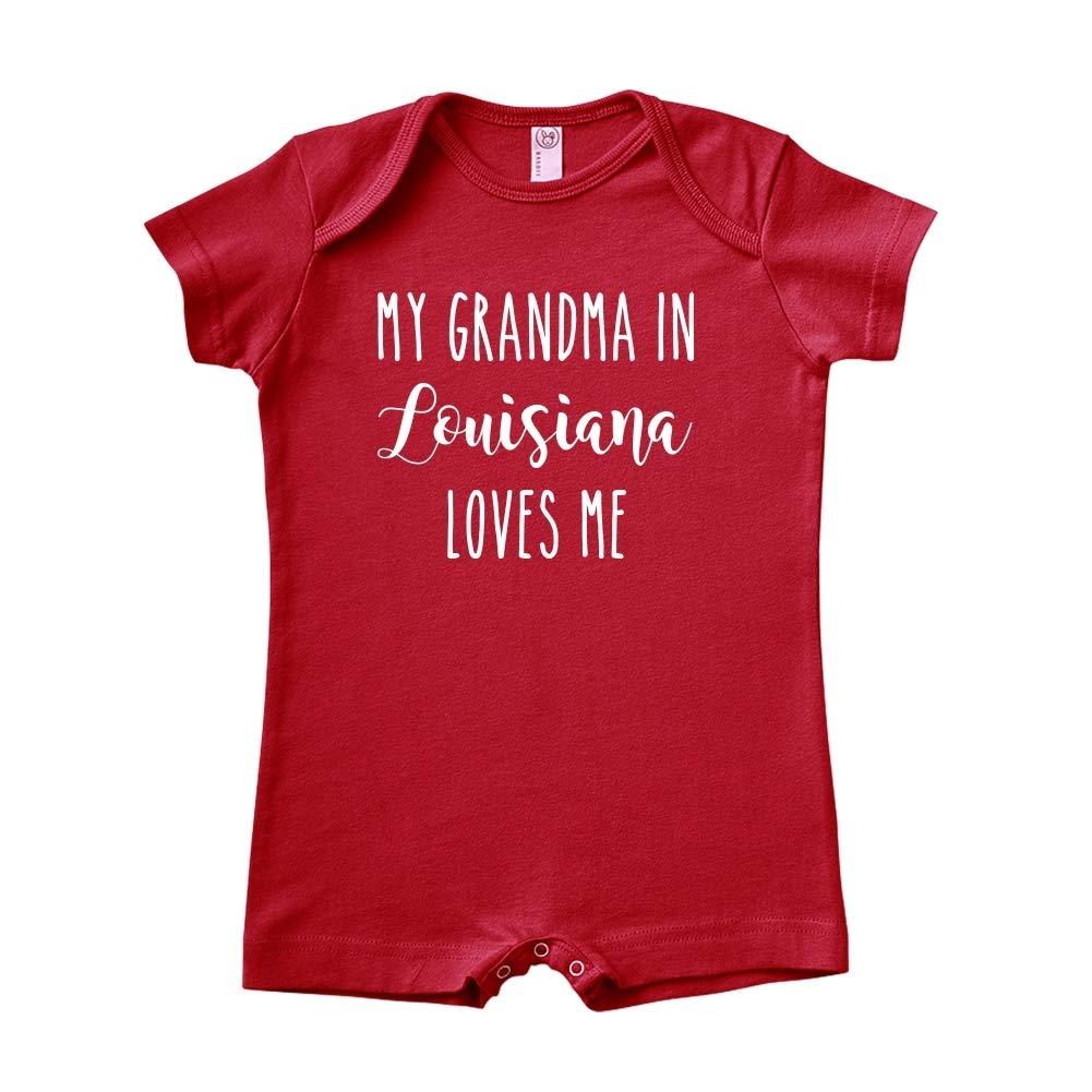 Baby Romper My Grandma in Louisiana Loves Me