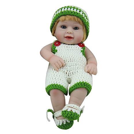 6d122bbc8b4d2 feiXIANG Bambolotti Bambina Bambola Natale Vestito Realistico Neonato  Bambolina Morbido Silicone Vinile 28CM Giocattolo Baby Doll