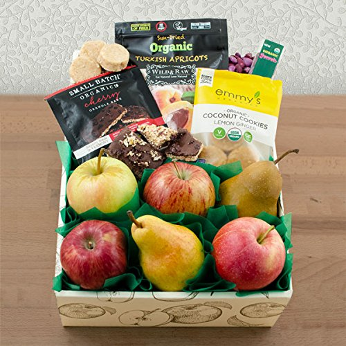 Happy & Healthy Organic Fruit & Snax Gift Box (637) by Capalbo's Gift Baskets