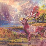 Ideal Home Range 3-Ply Paper Lunch Napkins, 20-Count, 6.5 x 6.5-Inches Folded, Deer's Dream