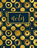 Notes: Pink Notebook & Journal With Gold Abstract Patterns & White & Ivory & Tan & Cream Feathers (Notebook, Journal, Diary, Planner, & Bullet List Series) (Volume 6)