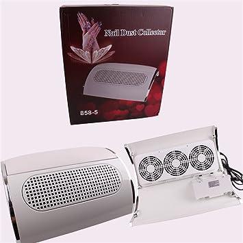YCRD Limpiador De Uñas Tres Ventiladores Secadora De Alta Potencia Bolsa De Vacío Adsorción Polvo Energía Eólica Amplia Área 40W Aspirador De Enfermería: ...
