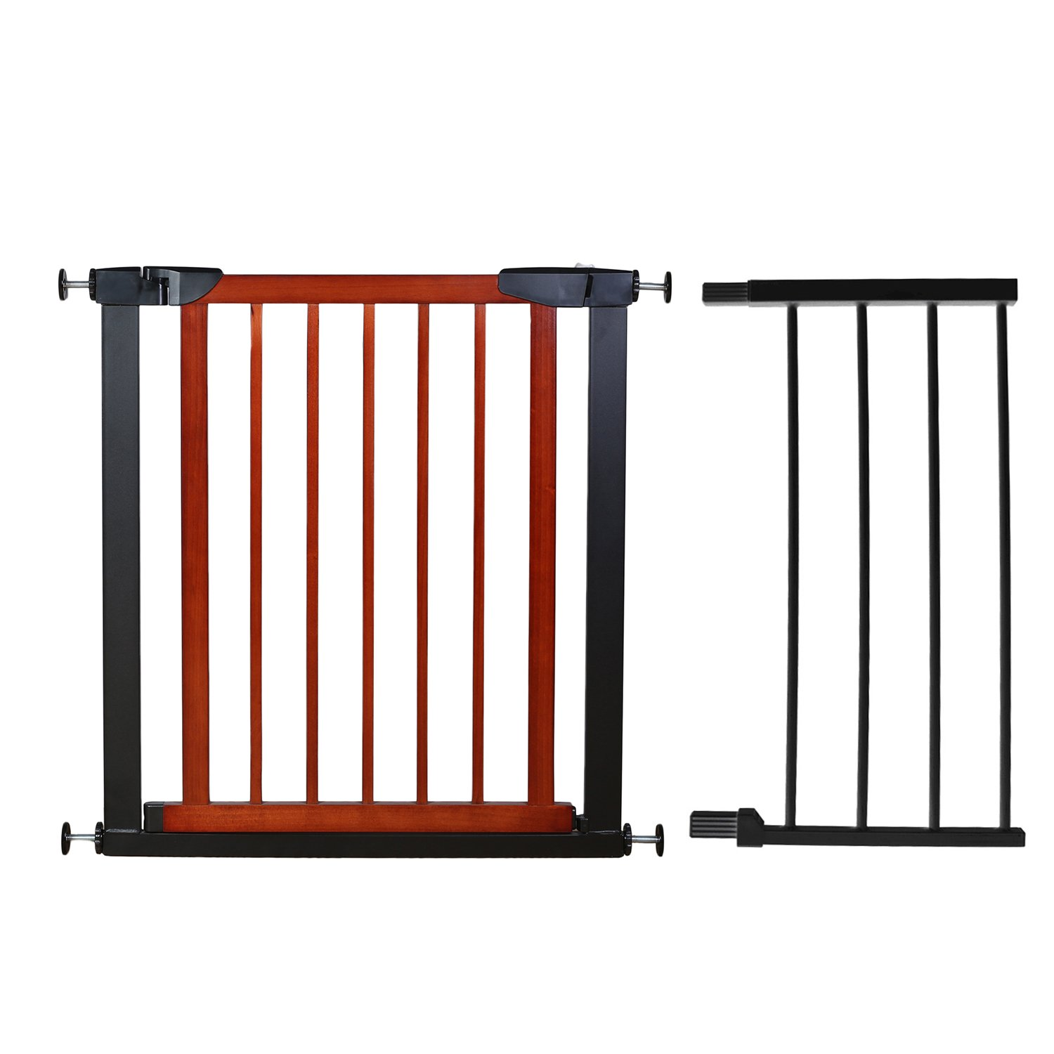 Fairy Baby Pet & Baby Gate Narrow Extra Wide for Stairs Metal and Wood Pressure Mounted Safety Walk Through Gate,Fit Spaces 68.11''-70.87'' (3-7 Days Delivered)