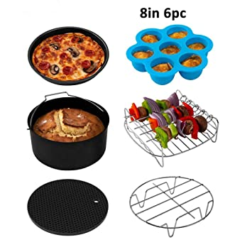Amazon.com: ALWAYZZ 8 Inch 6 Piece/Set Air Fryer Accessories ...