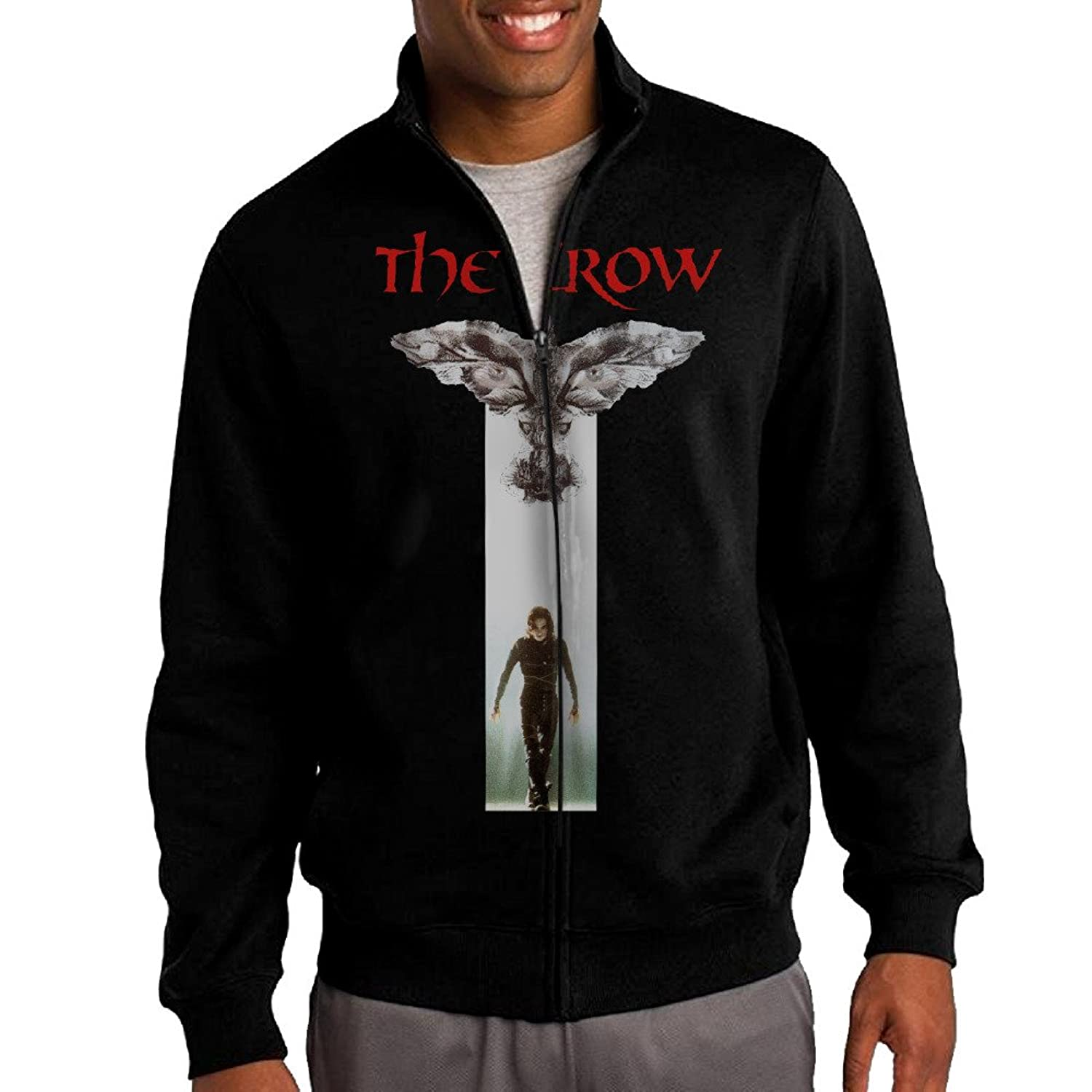 For men images recently traveled upstate for my publicist s birthday - New Men The Crow Movie Poster Stand Collar Jacket Hoodie Mars